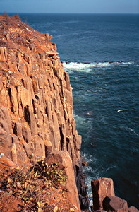 Cliffs of Goree Island, Senegal ;