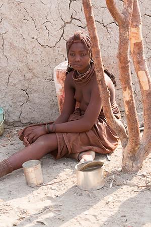 Himba teenage woman, Namibia