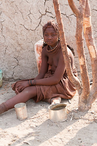 Himba teenage woman, Namibia