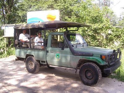 Caleb and Tanya on Safari.