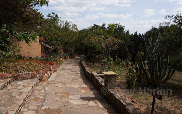 Pathway to our hotel room