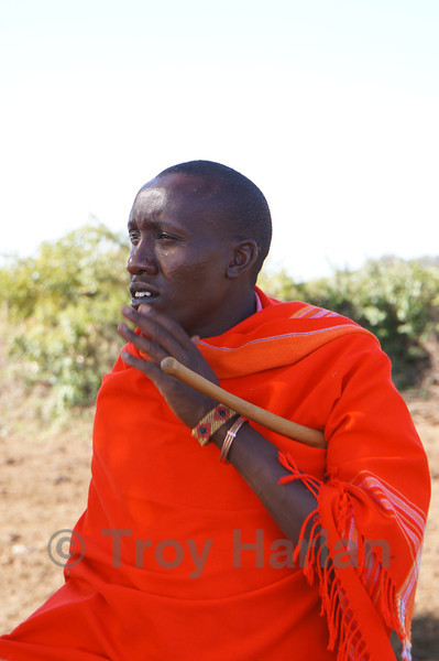 At Maasai village