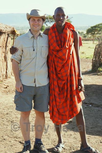 At Maasai village