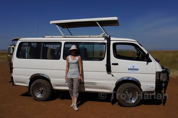 Our van in Kenya