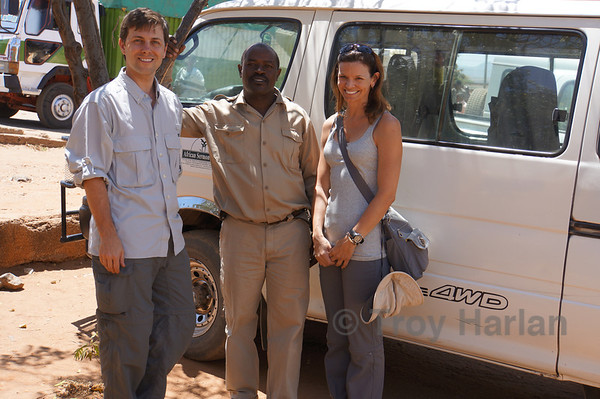 Saying goodbye to our Kenya guide, John