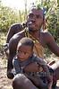 Hadzabe bushman and child