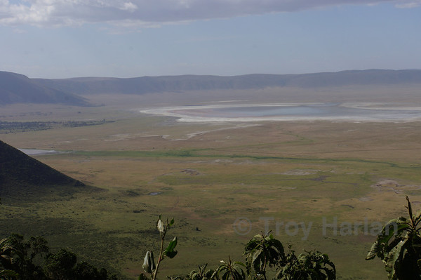View from atop Ngorongoro Crater