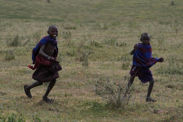 Maasai children in Ngorongoro Conservation Area