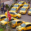 Taxi rank near Pera Palace Hotel, Istanbul, Turkey