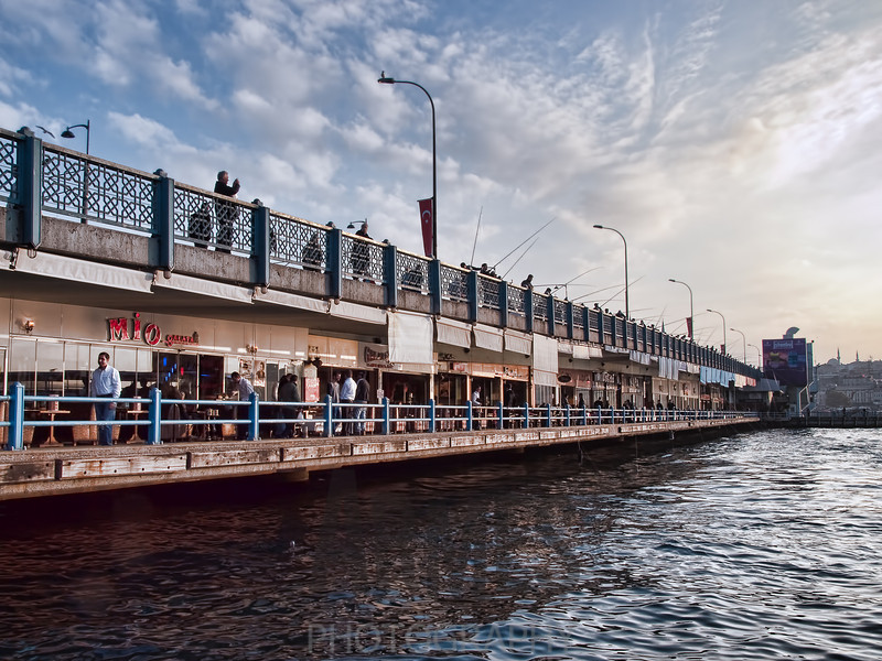 Galata Bridge over the Golden Horn, Istanbul, Turkey