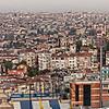 City skyline from the Pera Palace Hotel, Istanbul, Turkey
