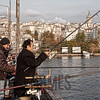 Fishing on the Ataturk Bridge, Istanbul, Turkey
