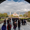 Hagia Sophia viewed from a gate of the Sultan Ahmed Mosque, Istanbul, Turkey