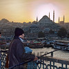 Fishing from the Galata Bridge, Istanbul, Turkey