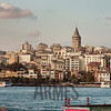 View of Galata district from the southern bank of the Golden Horn, Istanbul, Turkey