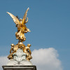 "<span id=""title"">Golden Statue</span> <em>London</em> I don't recall what this statue is of, but it's in front of Buckingham Palace. Why did I shoot the back? Mostly because that's where the sun was shining and I knew I wouldn't get able to get a decent shot from the front."