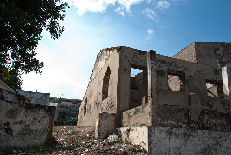 """<span id=""""title"""">Shell</span> Another ruined house in the baixa area."""