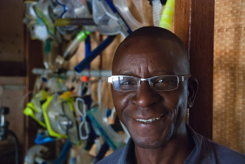 """<span id=""""title"""">Dive Shop Employee</span> This kind gentleman helped us schedule a snorkeling trip for the following day."""