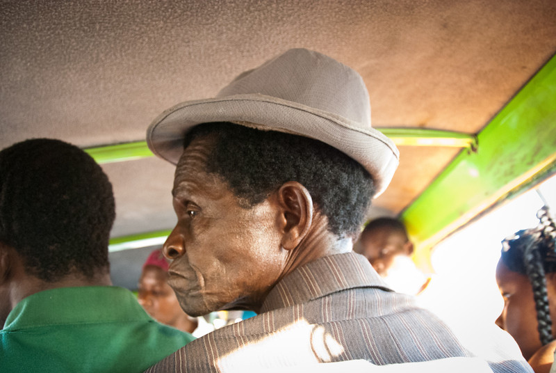 "<span id=""title"">Old Passenger</span> This man was very striking because he was so old. It's not something you notice at first, but there really are very few older folks. The average life expectancy in Mozambique is 41 years old. It currently <a href=""http://www.wolframalpha.com/input/?i=life+expectancy"">ranks 223 in the world</a>, just a few from the very bottom."