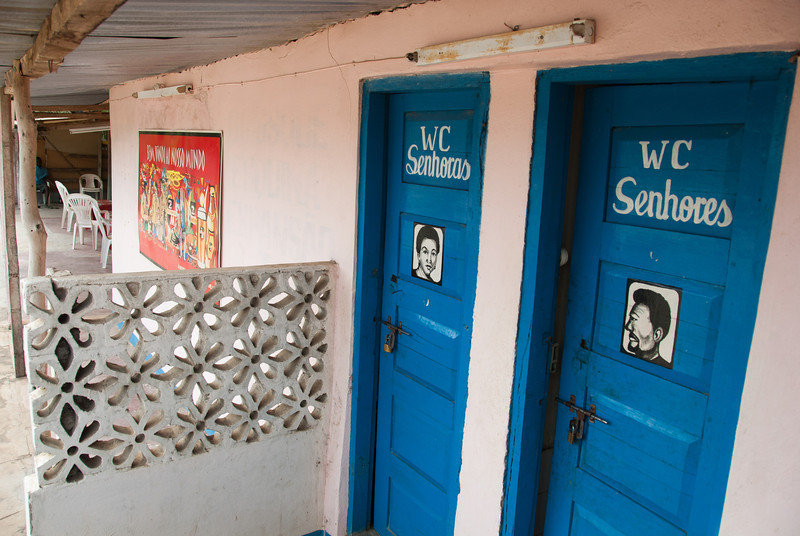 """<span id=""""title"""">Water Closets</span> These hand-painted bathroom doors were on a bar next to the road. I wouldn't have known it was a bar if our friends hadn't told us."""