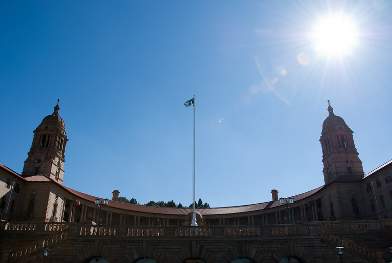 """<span id=""""title"""">Union Buildings</span> <em>Union Buildings, Pretoria</em> These are the main administration buildings for the country. It's where leaders get sworn in and all that good stuff. Sadly, we were not allowed to go inside, so this was the only view we got."""