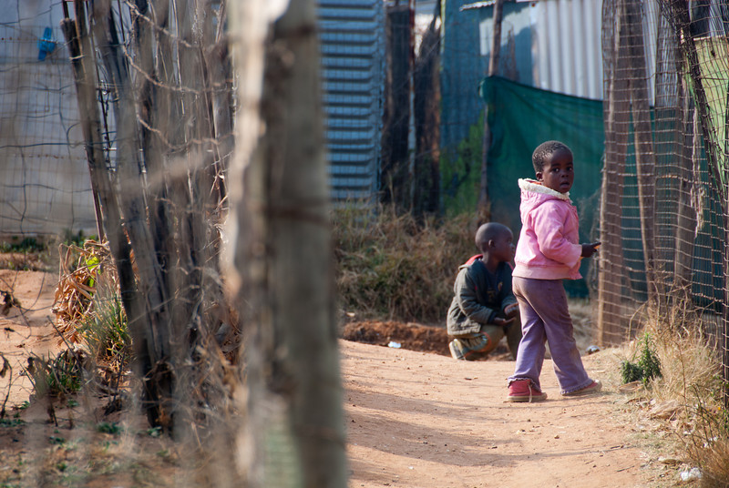 "<span id=""title"">Cute in Pink</span> <em>Soweto</em> This little girl and her brother (?) ran away from us when we got close to them."