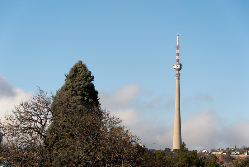 """<span id=""""title"""">Sentech Tower</span> <em>Johannesburg</em> This landmark rises above everything around it and we had a great view of it the morning we left our Melville guest house. I was sad to read that it used to have a public viewing deck, but it's been closed since 1982."""
