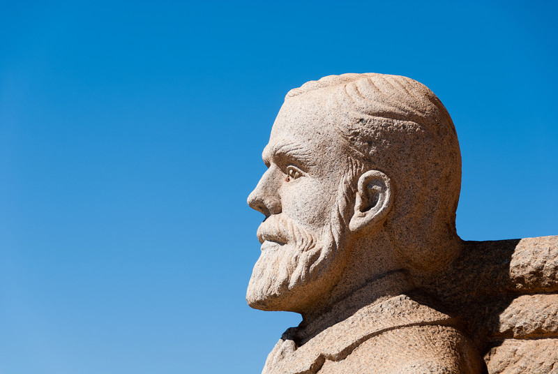 """<span id=""""title"""">Some Dude</span> <em>Voortrekker Monument, Pretoria</em> I'm not sure who this Voortrekking fellow was, but he must have been important to be featured so prominently."""