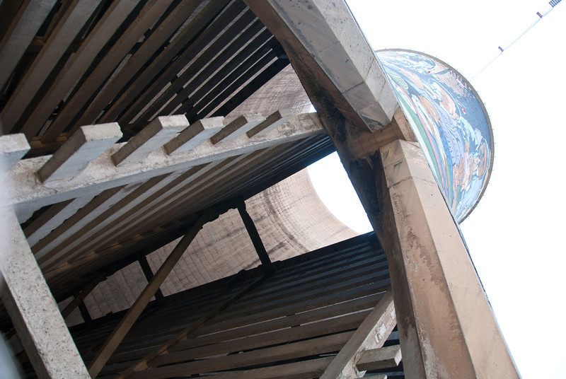 """<span id=""""title"""">Big Empty</span> <em>Soweto</em> Here you can see the inside of the hollow cooling tower."""