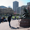 "<span id=""title"">Street Preacher</span> <em>Church Square, Pretoria</em> I couldn't tell if this man had an active audience, or if the people just happened to be sitting there."