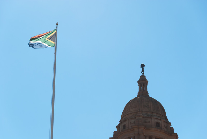 """<span id=""""title"""">Flag</span> <em>Union Buildings, Pretoria</em> Here's my obligatory South African flag photo. I really like their flag design, it's pretty cool."""