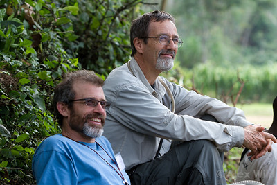 Brian Fisher and Phil Ward at Ant Course 2012 in Uganda.