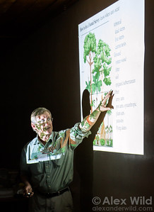 Jack Longino (University of Utah) gives an evening lecture on ant ecology at Ant Course 2012 in Uganda.