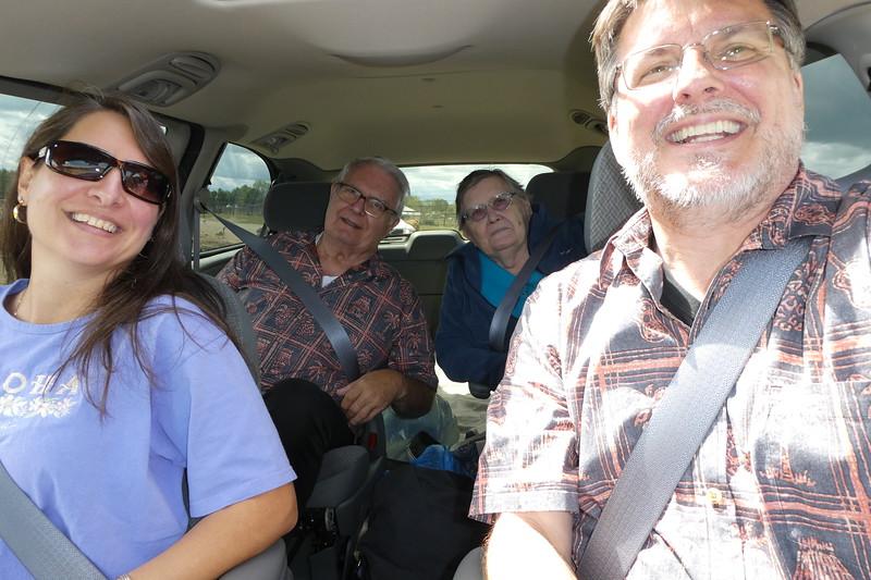 Us and Mike's parents riding through the safari park.