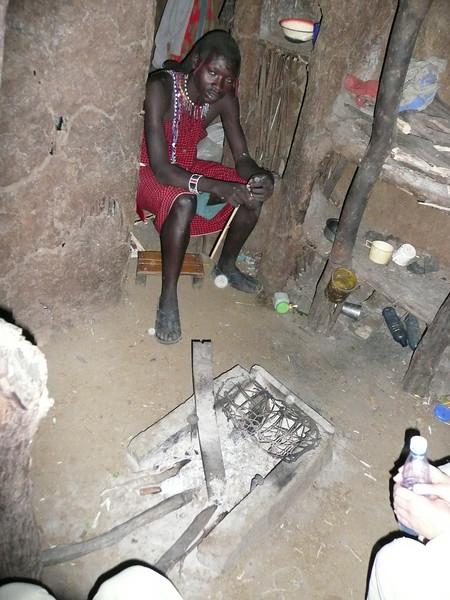 Inside a Maasai house