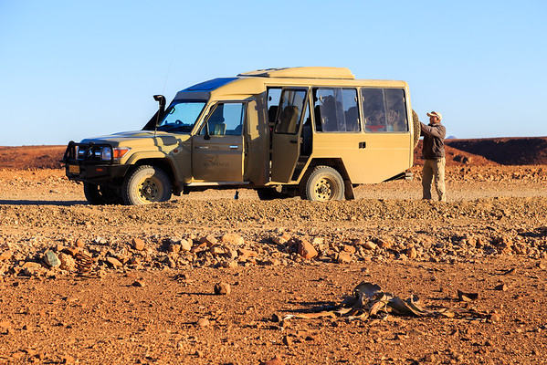 Damaraland, a bad place for a flat tire