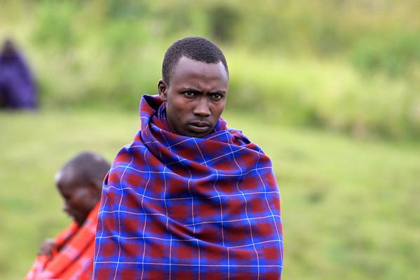 At the Maasai boma.