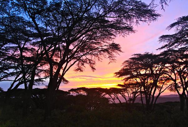 Ngorongoro Sunset Tanzania, March 2012