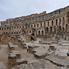 El Jem Roman colosseum could seat more than 30000 people
