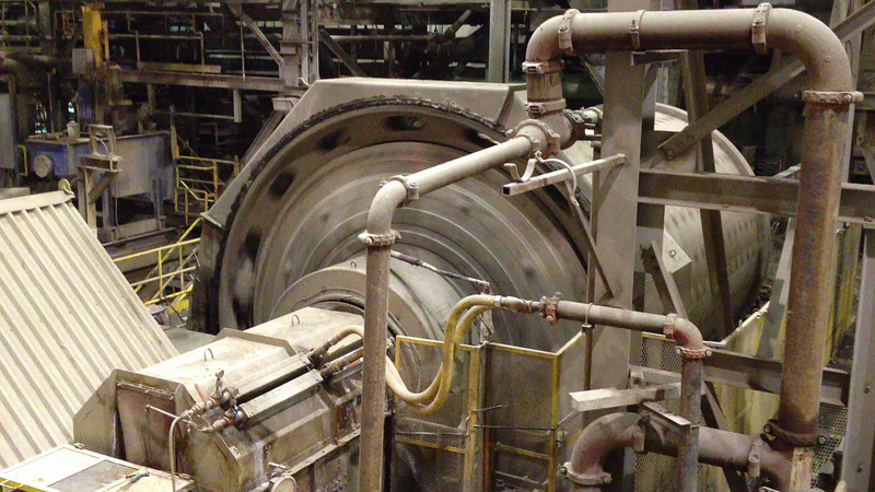 Inside the Agrium Phosphate Mine's Mill near Kapuskasing.