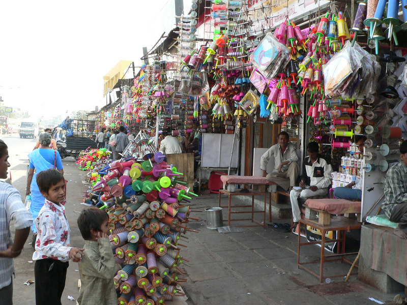 Shops selling kites and twine