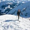 Irene beim zweiten Aufstieg zur Jochspitze