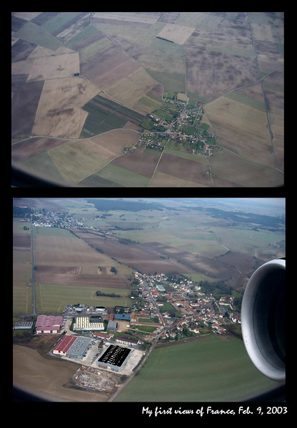 My first views of France (approaching Paris)