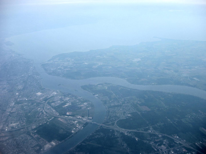 Approaching Niagra Falls from the south