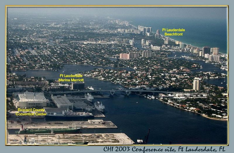 00aFavorite Ft Lauderdale CHI site - convention ctr, hotel, and beach [borders, text]