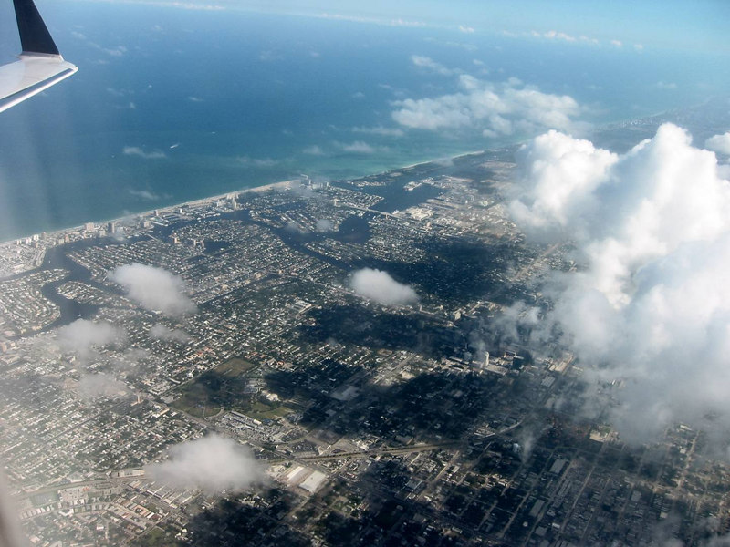 Fort Lauderdale beachfront and west
