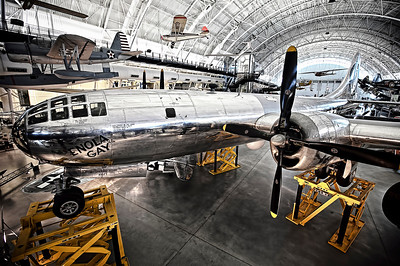 the Enola Gay B29 Super Fortress For those that dont recognize the name, this planed dropped the atomic bomb on Hiroshima, Japan.