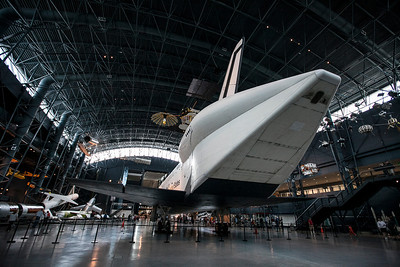 Space Shuttle Enterprise.  This one never actually went to space but was used for all sorts of testing and simulation.