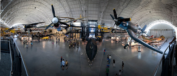 Panoramic view of the Air & Space Museum (click on the image to make it larger)