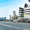 Aircraft Carrier USS Harry S. Truman (CVN 75) Flight Deck - Bridge, F/A-18s, MH-60s, and E-2C.
